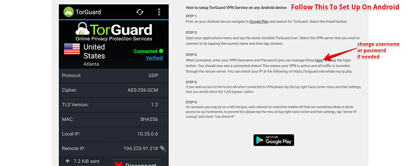 Setting Up TorGuard VPN on Android