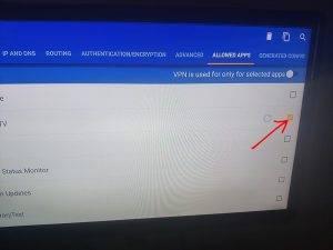 click allow on the iptv vpn app