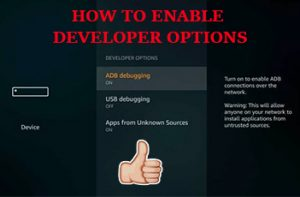 enable developer options firestick