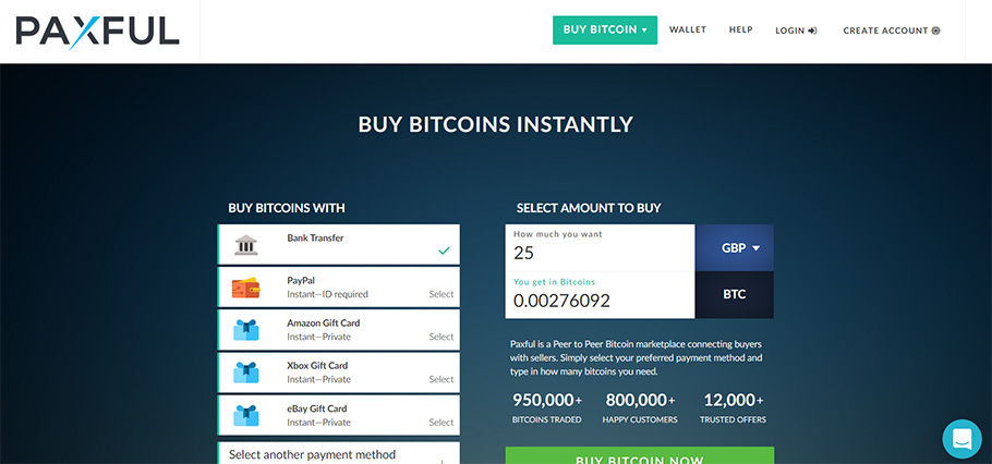 Buy bitcoin instantly with paxful