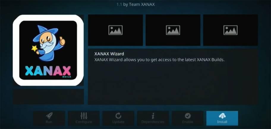 cool kodi wizard screen