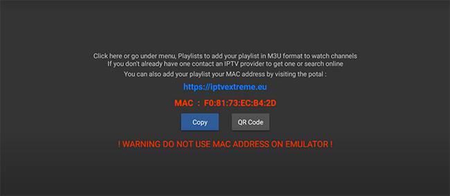 mac code for iptv extreme