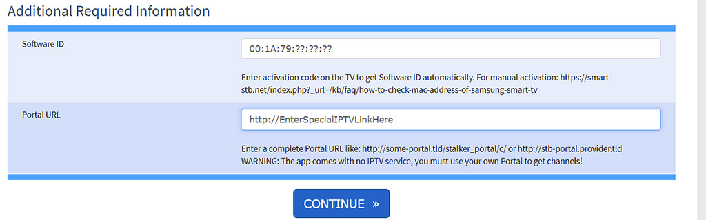 enter-your infomatiion in