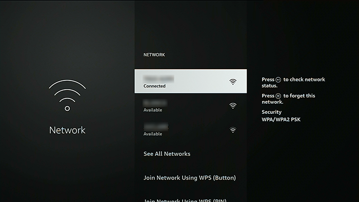 Now check the wifi network