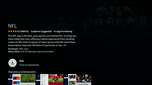 click get to download the nfl app