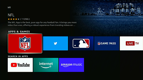 click on the nfl icon