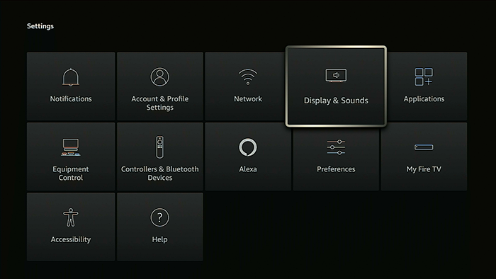 select display and sounds