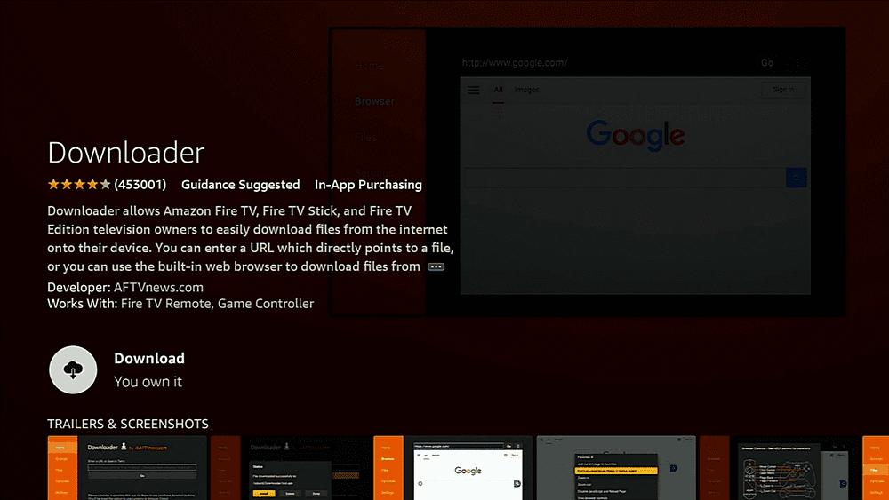 Downloading the Downloader App Firestick