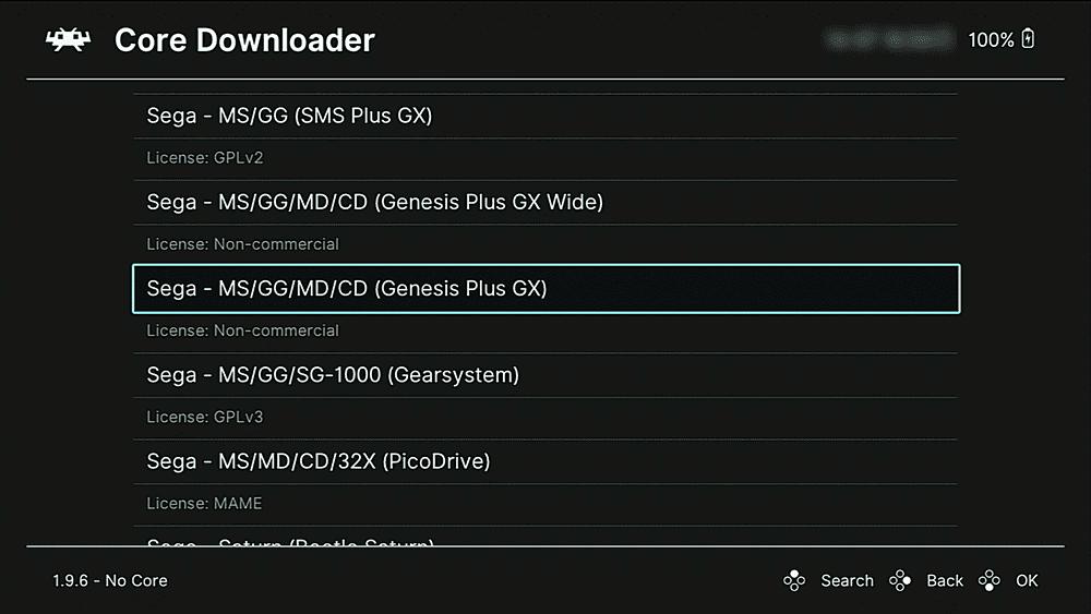 Sega Genesis selection