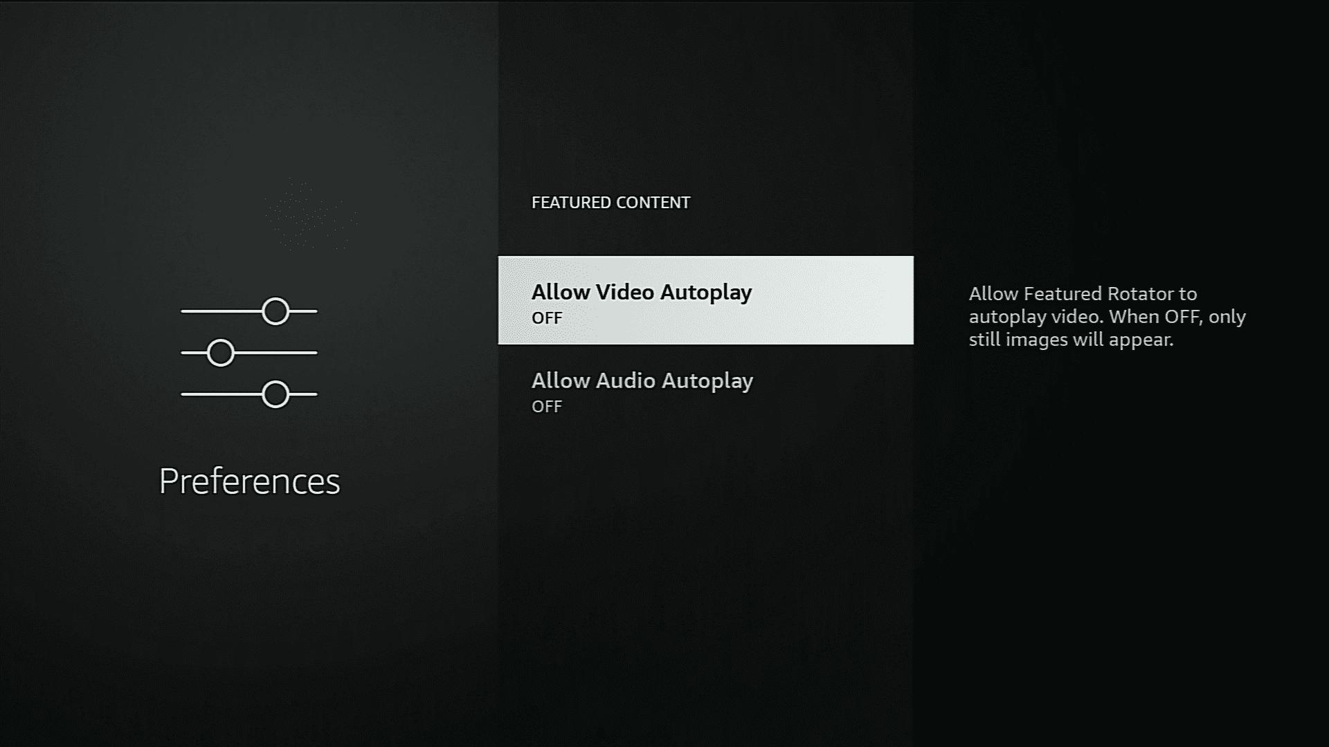Turn Off Video Autoplay amazon firestick