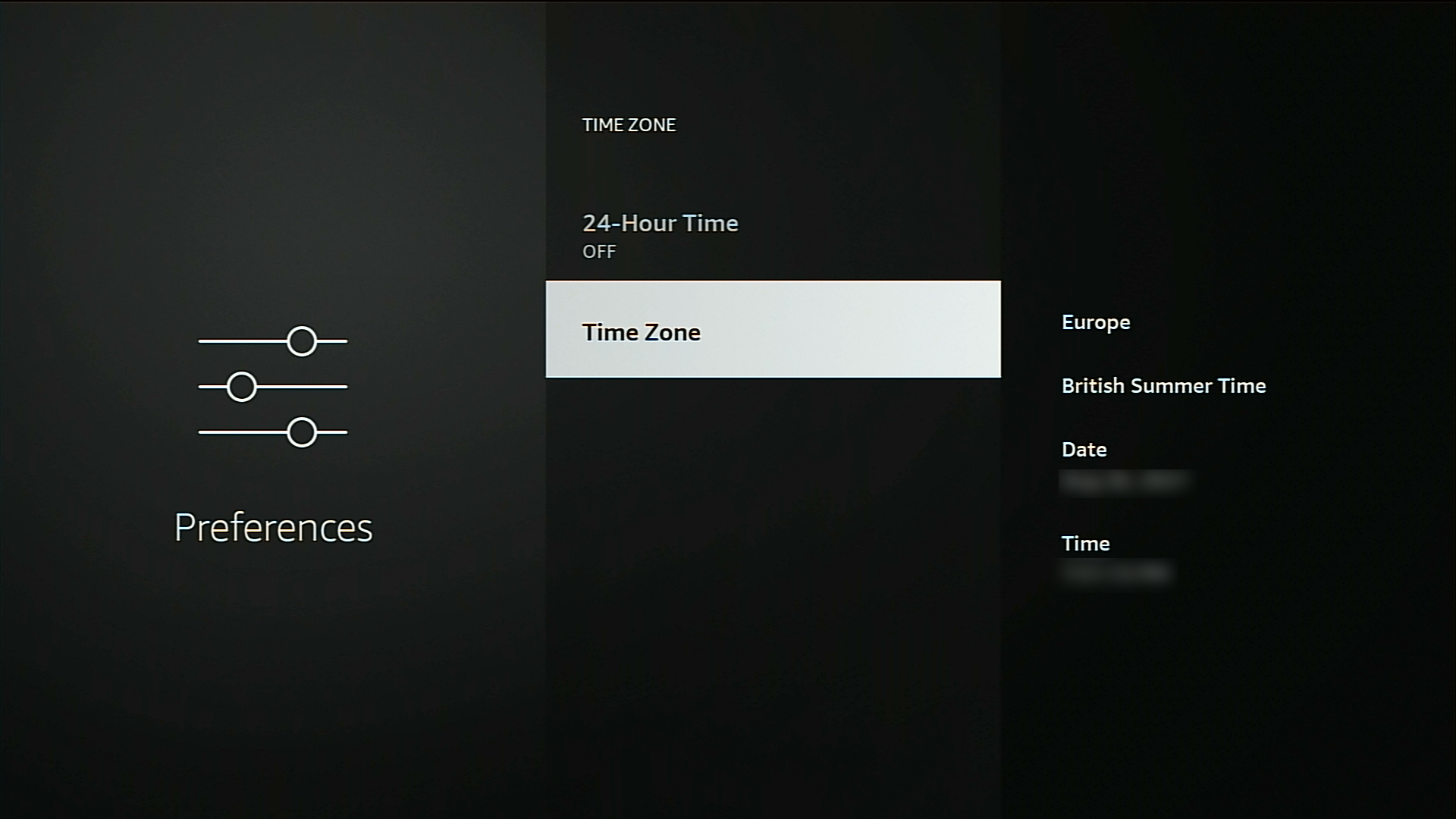 change time zone firestick