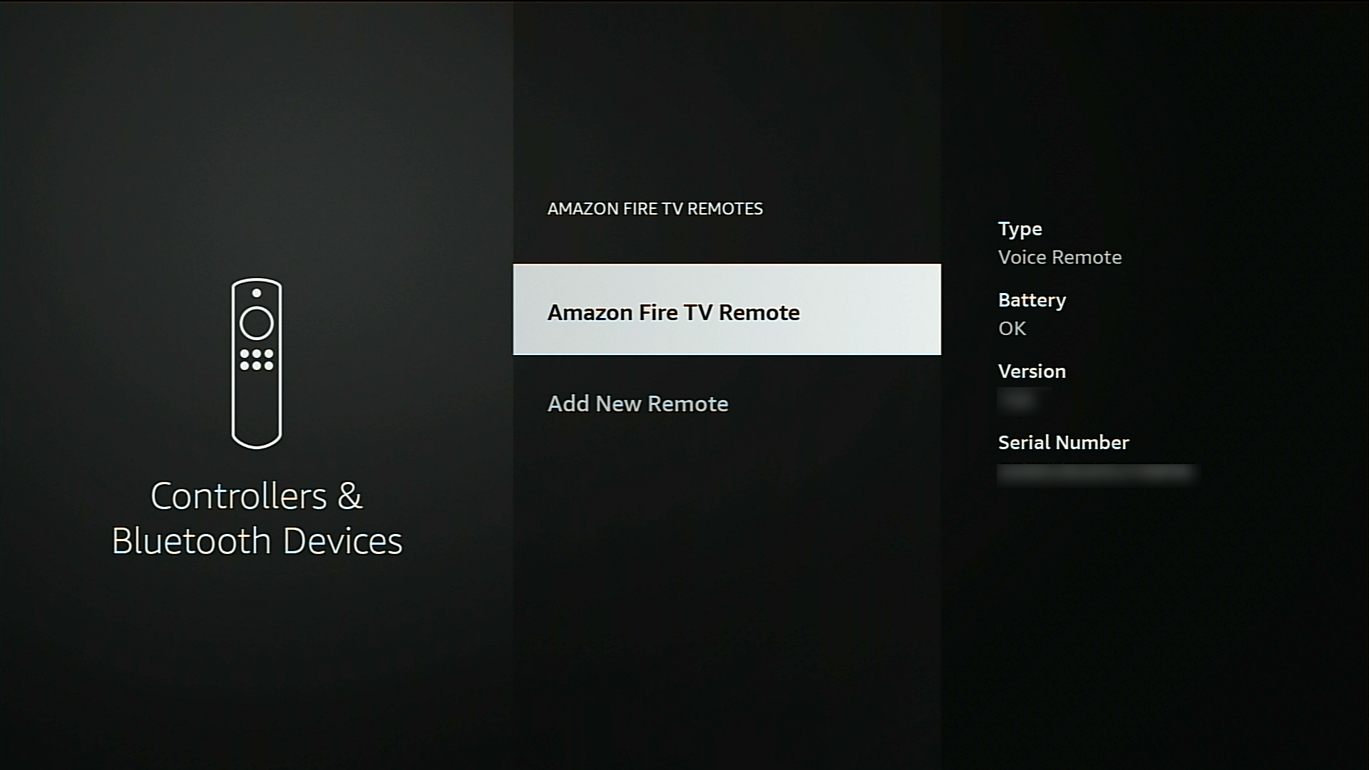 checking battery level on firestick remote