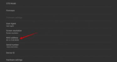finding mac address on stb emulator
