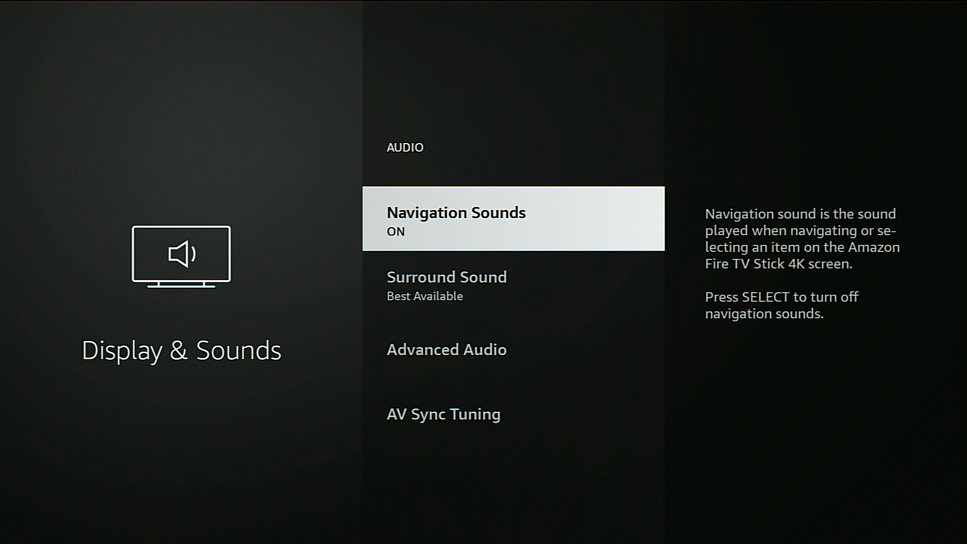 turn off navagational sounds
